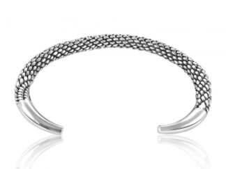 Sterling Silver Bangle Oxidized
