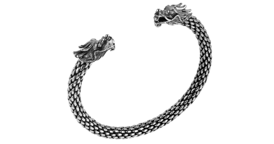 6083d28ee28ab Dragon Bracelet - Sterling Silver - Free Delivery - Alfred   Co ...