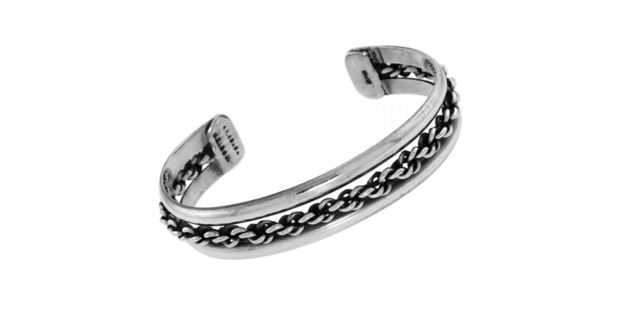 Childs Sterling Silver Bangle Gravity Style
