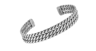 Triple Rope Silver Bangle