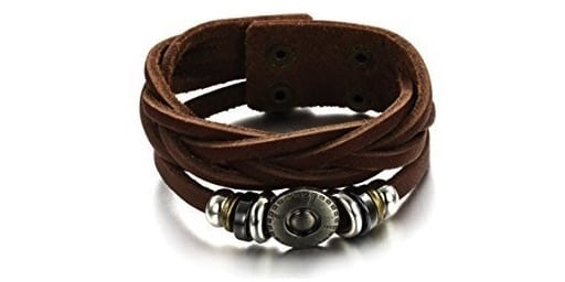 Brown Leather Bracelet Tribal