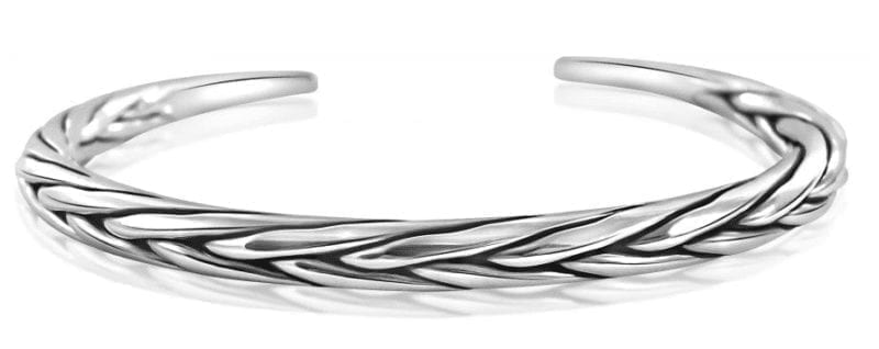 Silver Bangle Oxidized Supreme Twist Style with Alfred & Co. Jewellery Box