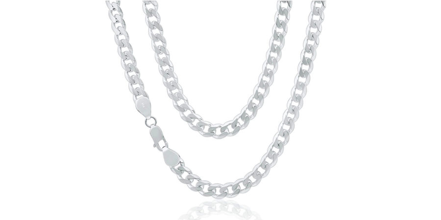 Chunky Sterling Silver Necklace – 13.7mm Width