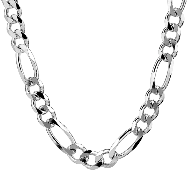 Silver Figaro Necklace 11mm