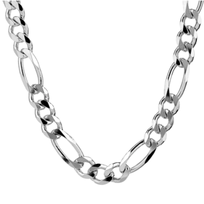 Silver Necklace - Figaro Style