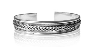 Sterling Silver Bangle Weave Style