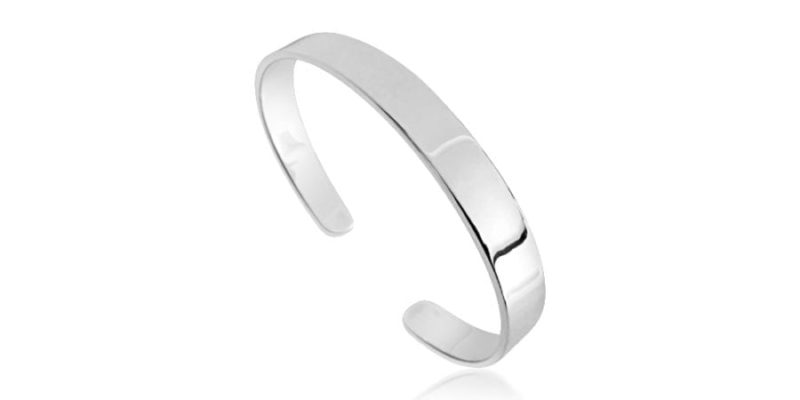 Plain Silver Bangle Classic Style with Alfred & Co. Jewellery Box