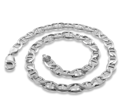 Thick Silver Necklace - 10.80mm