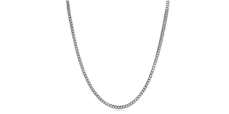 Sterling Silver Necklace – Curb Style, 2.12mm Width