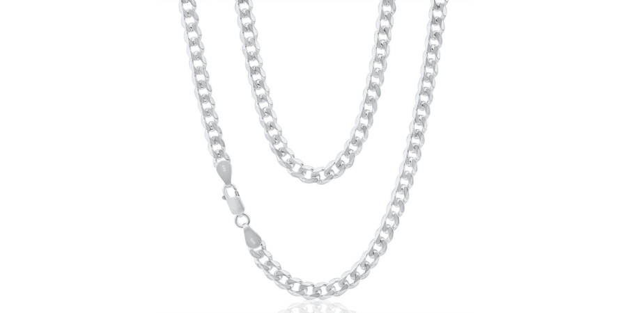 Thick Silver Chain – 9.3mm width