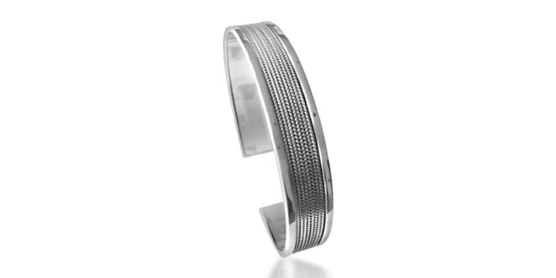 Silver Bangle Sterling Silver Classic Style with Alfred & Co. Jewellery Box