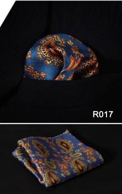 Blue & Orange Floral Pocket Square