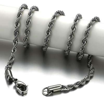 Stainless Steel Necklace Twist