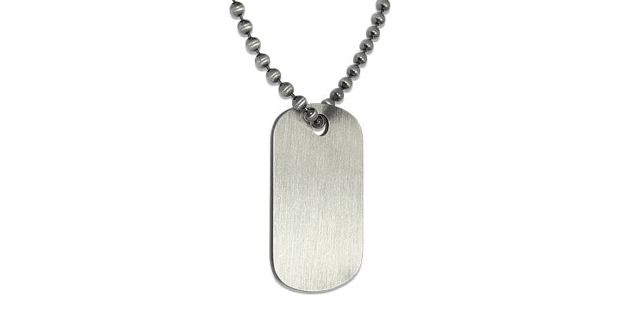 Silver Dog Tag Necklace Supreme
