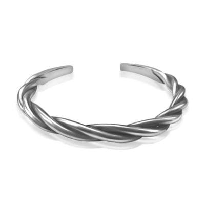 Silver Bangle Twisted
