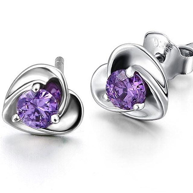 Silver Love Heart Earrings