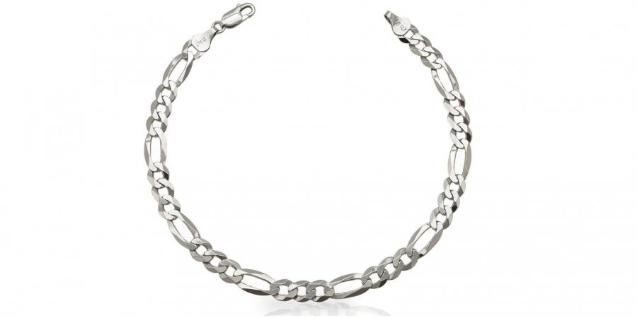 Silver Bracelet Figaro Style