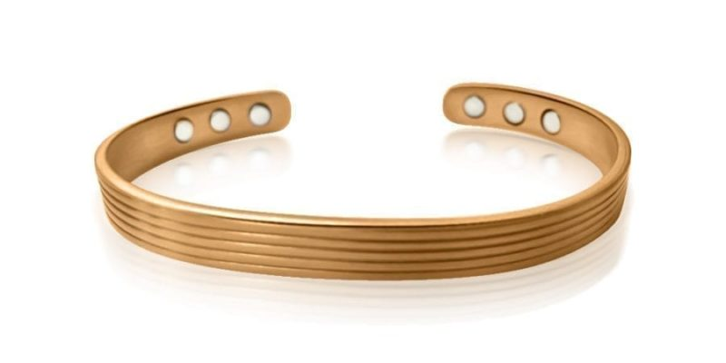 Copper Magnetic Bracelet Indent Style – Mens/Womens
