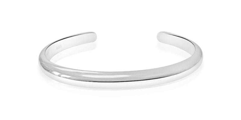 Silver Bangle Smooth Torque Style – Mens/Womens – Sterling Silver