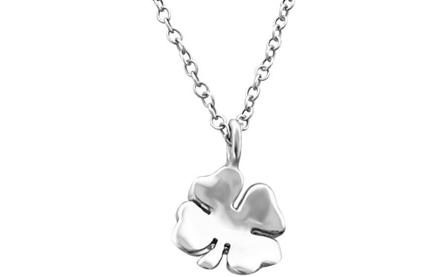 Silver Four Leaf Clover Necklace