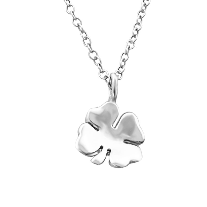 Silver Shamrock Necklace