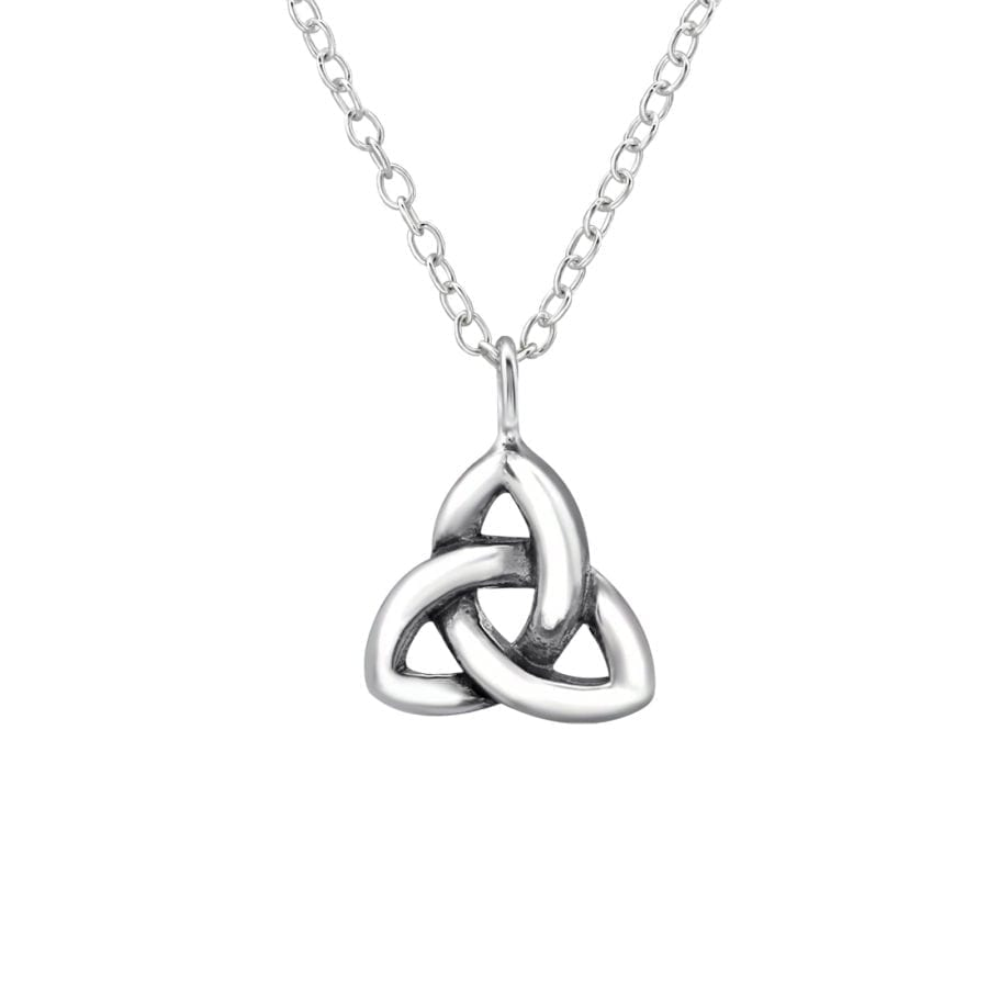 Silver Triangle Celtic Knot Necklace