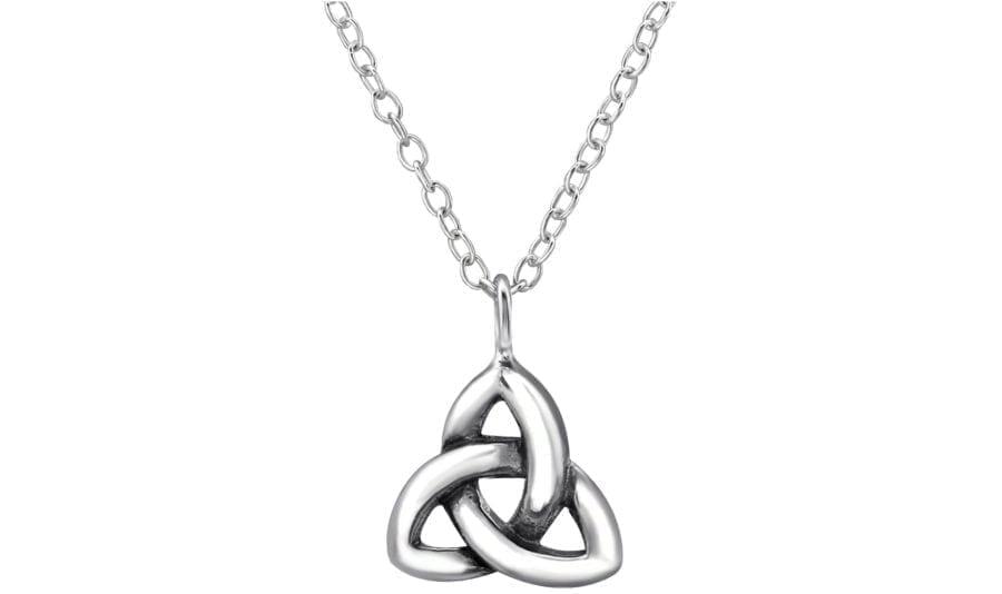 Silver Triangle Pendant Necklace