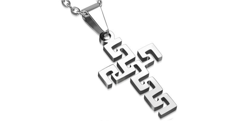 Men's Cross Necklace in Silver