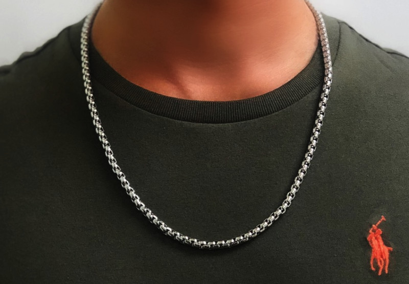 Mens Silver Necklace Chain – 5mm Width – Pure Stainless Steel – The Rolo©