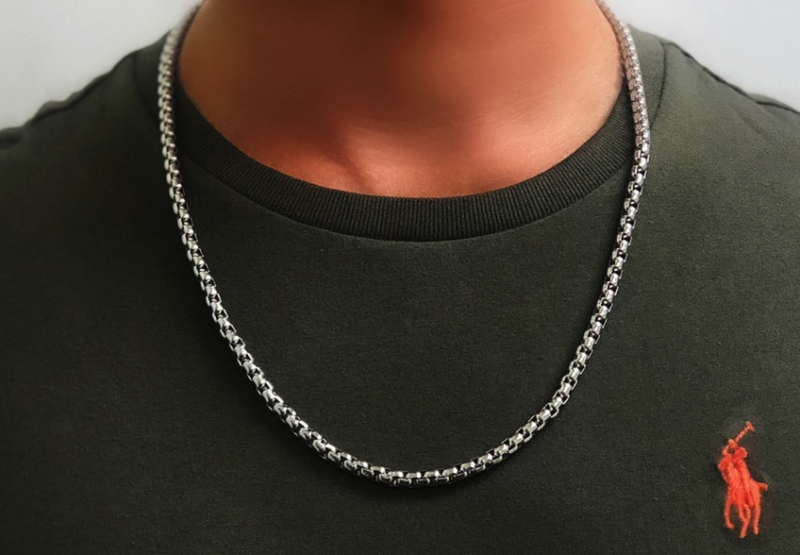 Mens Necklace Chain - Rolo