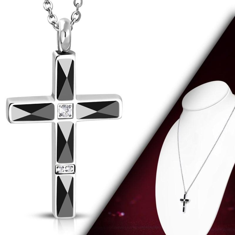 Cross Necklace Black