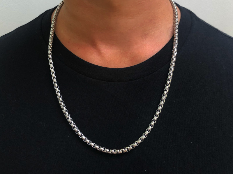 Mens Necklace - Rolo