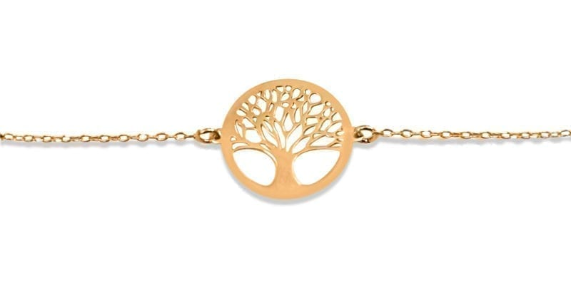 Mulberry Tree of Life Bracelet in Sterling Silver Rose Gold Plating