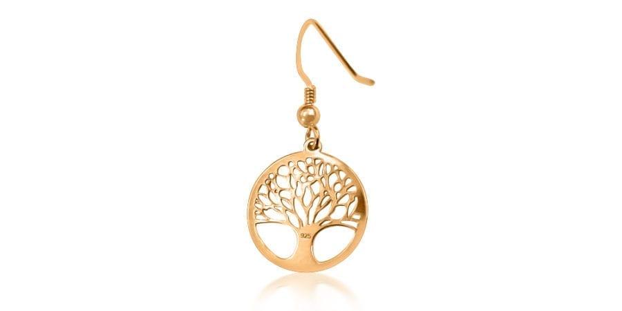 Rose Gold Tree of Life Earrings