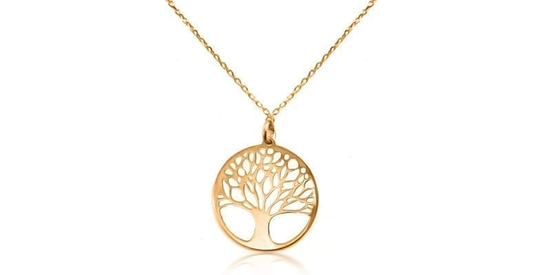 Silver Mulberry Tree of Life Necklace in Rose Gold Plating with Alfred & Co. Jewellery Box