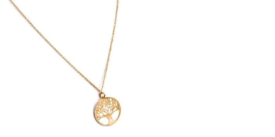 Tree of Life Necklace Rose Gold