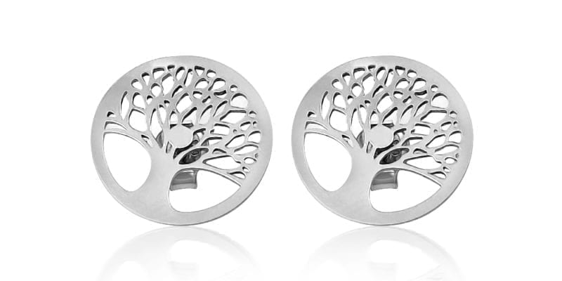 Mulberry Tree of Life Earrings in Sterling Silver with Alfred & Co. Jewellery Box