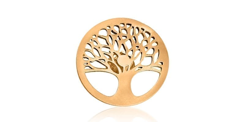 Mulberry Tree of Life Earrings in Rose Gold
