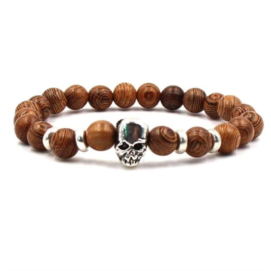 Moon Brown Skull Bracelet