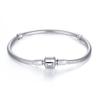 Silver Charm Bracelet Snake