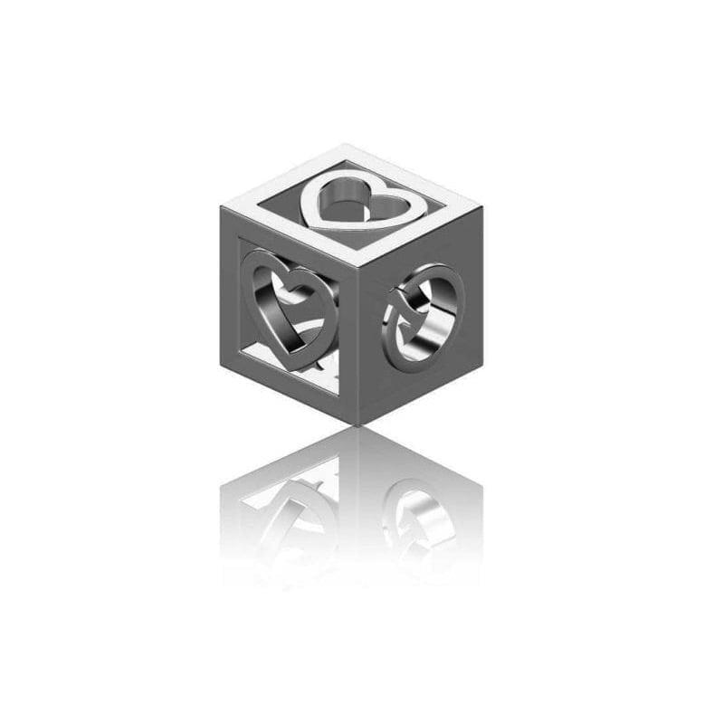 Heart Cube Charm