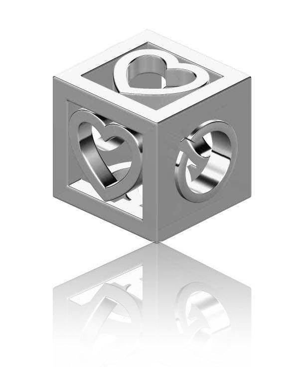 Hearts Cube Charm