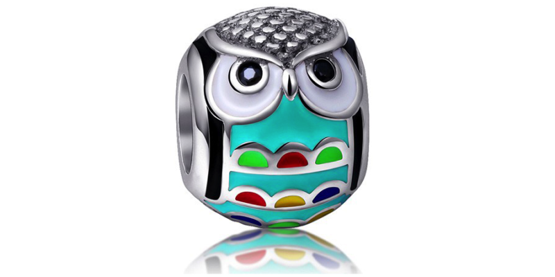 Owl Charm – Sterling Silver