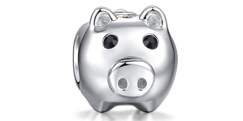 Pig Charm – Sterling Silver