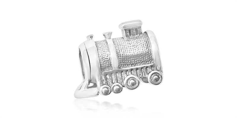 Train Charm – Sterling Silver