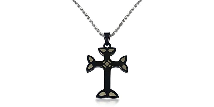 Black Cross Necklace
