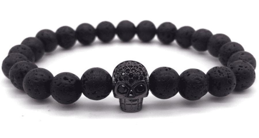 Skull Bracelet Black & Black