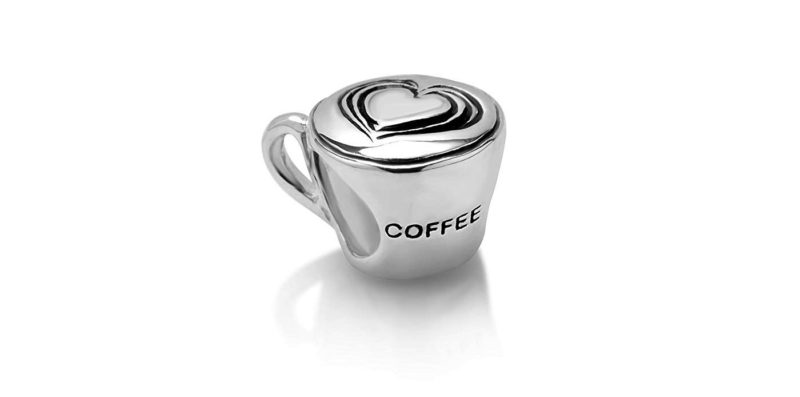 Love Coffee Silver Charm