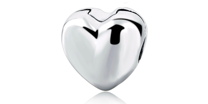Heart Charm – Sterling Silver