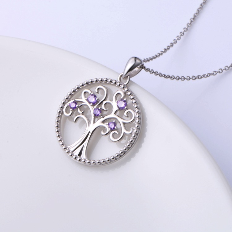 Purple Tree of Life Necklace